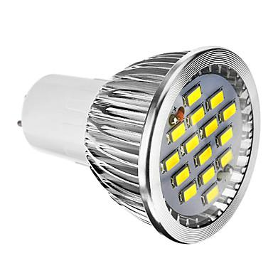 400 lm E14 GU10 GU5.3(MR16) E26/E27 Lâmpadas de Foco de LED 15 leds SMD 5730 Regulável Branco Quente Branco Frio AC 220-240V