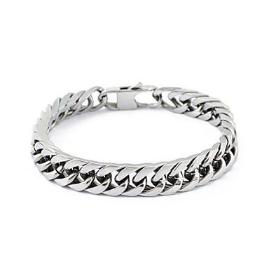 Paslanmaz çelik gümüş bağlantı zinciri bilezik