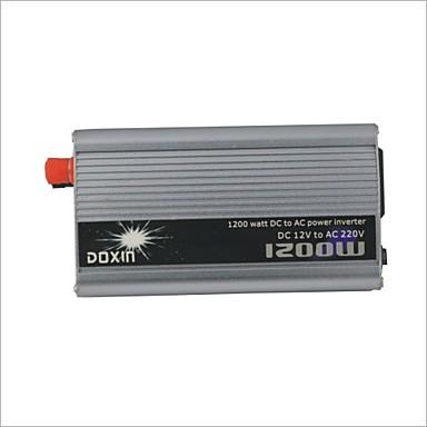 Gümüş - Araç Çakmak ile AC 220V Power Inverter carking ™ Evrensel Zamak 1200W DC 12V