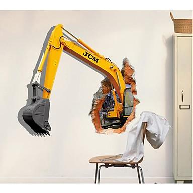 Dekoratif Duvar Çıkartmaları - 3D Duvar Çıkartması 3D Oturma Odası / Yatakodası / Yemek Odası / Yıkanabilir