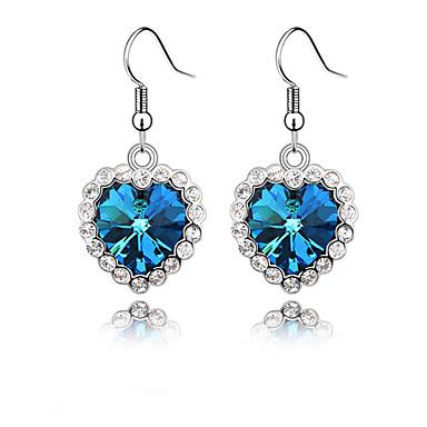 Pentru femei Cercei Picătură Inimă Vărsătorul Cristal cercei Bijuterii Albastru Pentru Petrecere Zilnic Casual