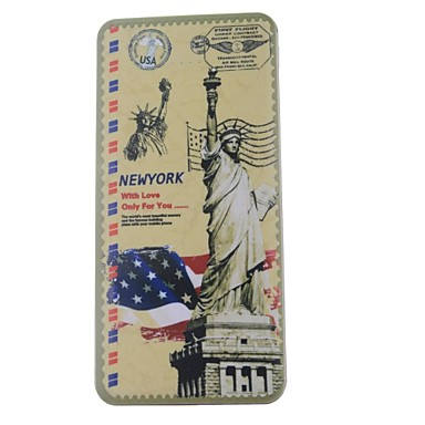 Statue of Liberty Mønster High Capacity 13000mAh Dual USB Smart Mobile Power Bank med LED-indikatorer