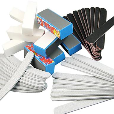 40PCS 5 Türleri Art Files & Tampon Blokları (Çiçek Türleri) Çiviler Akrilik için Manikür Seti Tırnak