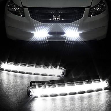 Reallink ® Super White 8LED Universal Car Light LED päiväajovalot DRL Light Auton lamput huomiovalot