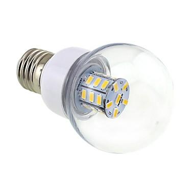 4W 3000-3500 lm E26/E27 LED Küre Ampuller G60 27 led SMD 5730 Sıcak Beyaz DC 12V AC 12V AC 24V DC 24