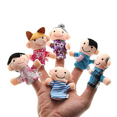 Aile Parmak Kuklalar Kuklalar Tatlı Sevimli Yenilikçi Peluş Genç Kız Oyuncaklar Hediye 6 pcs