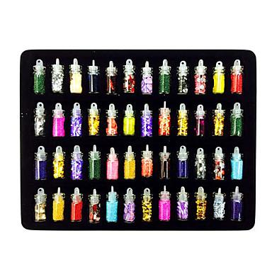 48 pcs Nail Art Takımı Tırnak Takısı tırnak sanatı Manikür pedikür Günlük Çiçek / Soyut / Düğün / Nail Jewelry