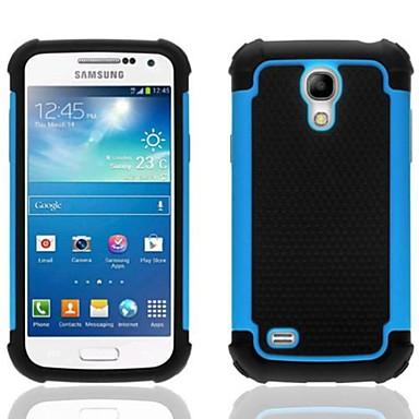 2-in-1 model de design cu cap hexagonal caz de greu cu silicon interior acoperire pentru Samsung Galaxy s4 mini i9190