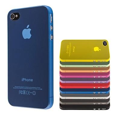 PC-ul subțire capac transparent moale pentru iPhone 4 / 4S (culori asortate)