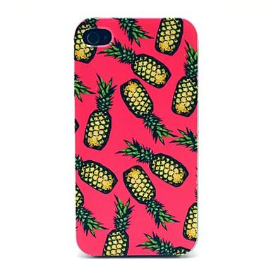 IPhone 4/4S için Pembe Background Ananas Desen Hard Case