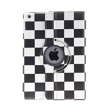 Pouzdro Uyumluluk iPad Air Satandlı 360° Dönüş Temalı Tam Kaplama Kılıf Geometrik Desenli PU Deri için iPad Air