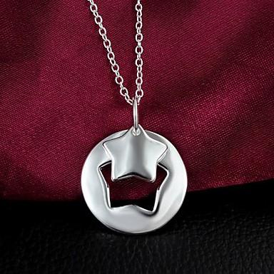 Pentru femei Altele Argilă Coliere cu Pandativ  -  Regulat Argintiu Coliere Pentru Nuntă Petrecere