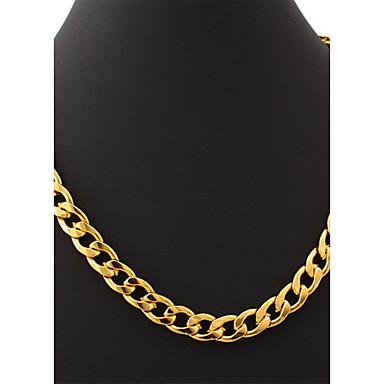 f73716afd2fb u7® oro 18k plateó el grueso collar grande hiphop lleno de oro de los  hombres