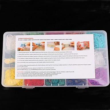 gökkuşağı renkli tezgah diy lastik bant çocuk oyuncakları gökkuşağı apron 15 boxe 2000 adet için kitleri