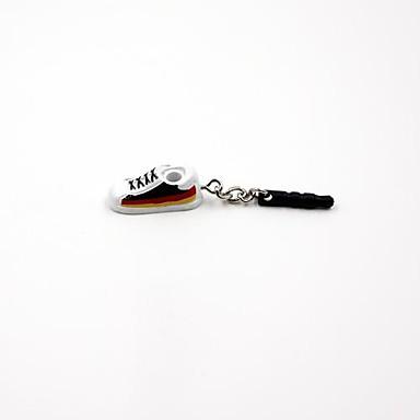 Almanya Futbol Takım Ulusal Bayrak Ayakkabı Şekilli 3.5mm Kulaklık Jack Anti-toz Plug