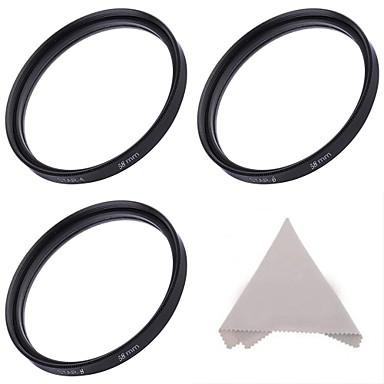 Stele 58mm set de filtre :4-punct, 6 puncte, și de 8 puncte filtre stele + pânză de curățare