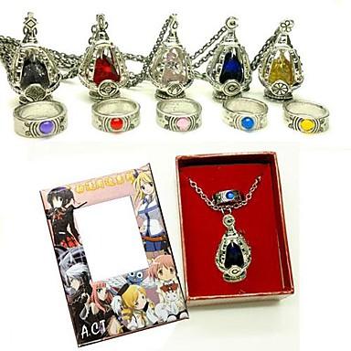 Mücevher Esinlenen Puella Magi Madoka Magica Cosplay Anime Cosplay Aksesuarları Kolyeler Kırmızı / Sarı / Mavi / Mor / Yeşil / Pembe