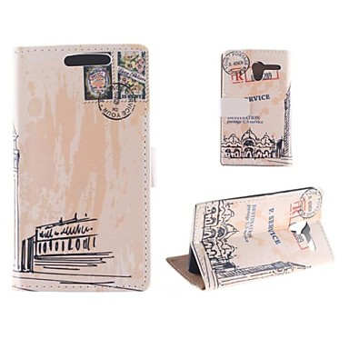 Oil Painting Pattern of Big Ben PU Full Body Case with Card Slot for Motorola MOTO X