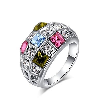 Dames Statement Ring Verzilverd Bruiloft Feest Dagelijks Causaal Kostuum juwelen