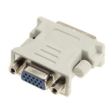 VGA dişi adaptör dongle dvi 24 +5 erkek
