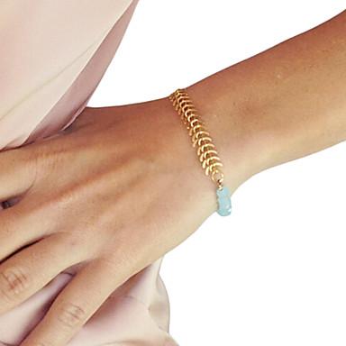 shixin® classic crystal golden könnyűfém charm karkötő (1 db)