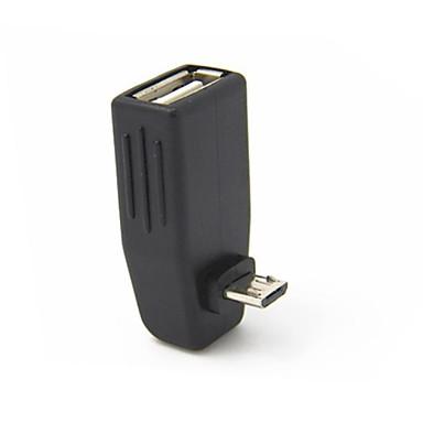 USB 2.0 de sex feminin de micro USB OTG cablu adaptor de sex masculin de 90 de grade pentru Samsung comprimat și telefoane