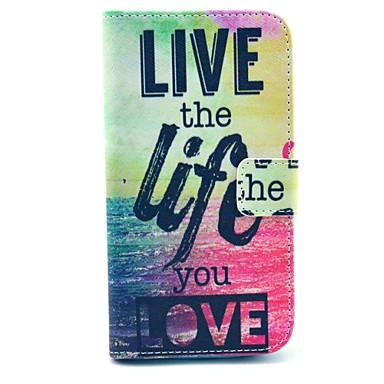 trăi viața pe mare de design din piele PU caz corp plin cu suport pentru i9300 Samsung Galaxy S3