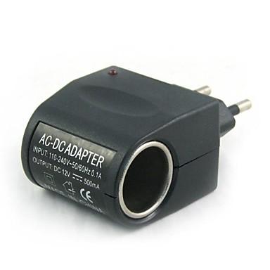 100v-240v ac ila 12v dc güç çakmağı (eu fişi) araç şarj cihazı