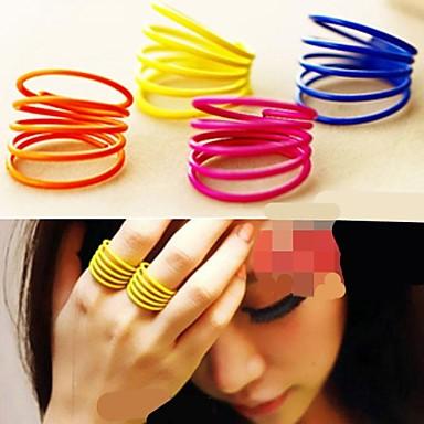 Pentru femei Multistratificat Aliaj Band Ring - Personalizat / Multistratificat / Cute Stil Galben / Trandafiriu / Albastru Inel Pentru