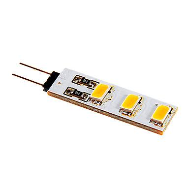 80-100 lm G4 Luminárias de LED  Duplo-Pin 6 leds SMD 5050 Branco Quente Branco Frio DC 12V