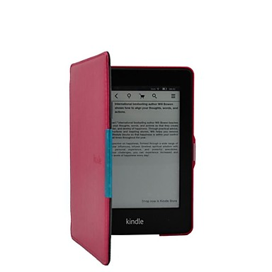 Case For Kindle / Amazon Full Body Cases Full Body Cases Solid Colored Hard  PU Leather for Kindle PaperWhite 1(1st Generation, 2012 Release) / Kindle