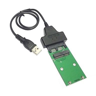 7 + 9 16 핀 어댑터는 SSD 하드 디스크 카드 PCBA에 1.8 미니 PCI-E의 msata의 SSD에 USB 2.0