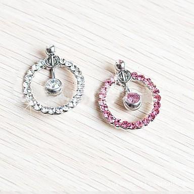 Kristal Göbek Halkası / Göbek Piercing - Kristal Kadın's Beyaz / Pembe Vücut Mücevheri Uyumluluk Günlük