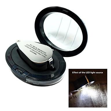 Led currengy kendısı ile 40x tüm metal yüksek-çözünürlüklü büyüteç büyüteç mikroskop
