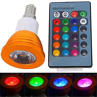 YWXLIGHT® 1pc 3 W 250-300 lm E14 LED Spot Işıkları 1 LED Boncuklar Yüksek Güçlü LED Uzaktan Kumandalı RGB 85-265 V