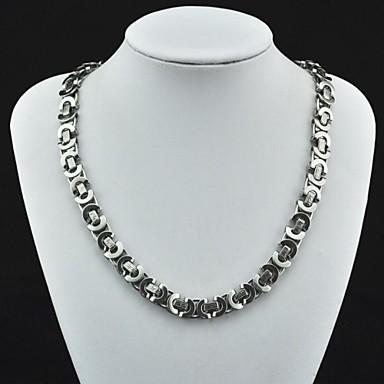 Mücevher Zincir Kolyeler Parti / Günlük Paslanmaz Çelik Erkek Gümüş Düğün Hediyeleri