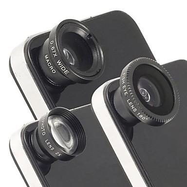 iphone ve diğerleri için evrensel manyetik 2x telefoto objektif, balıkgözü lens ve geniş açı makro lensi