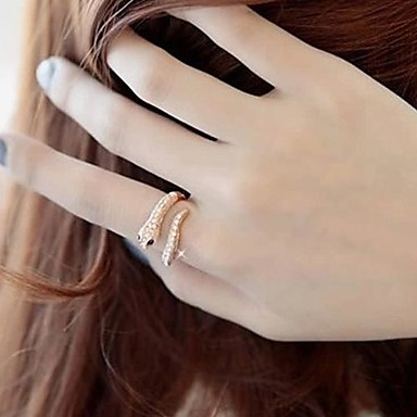 Women's Crystal / Alloy Statement Ring - Fashion Silver / Golden Ring For Wedding / Party / Daily