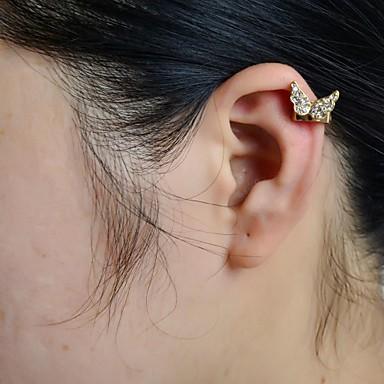 Kulak Manşetleri lüks mücevher Yapay Elmas imitasyon Pırlanta alaşım Animal Shape Kelebek Mücevher Için Düğün Parti Günlük Spor