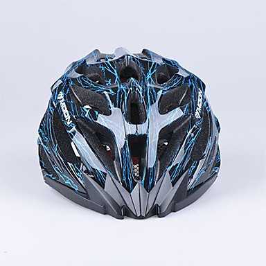ay 27 delikleri pc + eps siyah ve mavi bisiklet kaskı (56-62cm) yekpare kalıplanmış