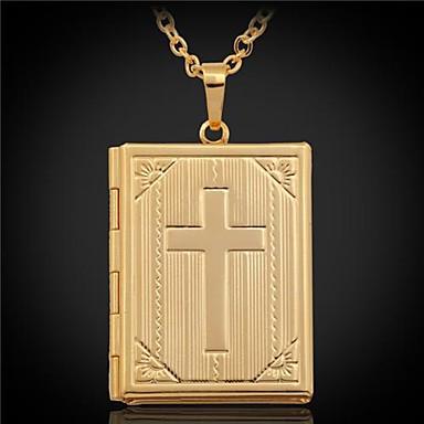 Pentru femei Σταυρός Placat Auriu Coliere cu Pandativ  -  Personalizat Argintiu Auriu Coliere Pentru Nuntă Petrecere Cadou