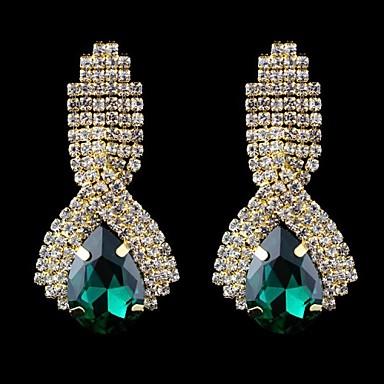 Kadın Damla Küpeler kostüm takısı Kristal Cam Mücevher Uyumluluk Düğün Parti Günlük