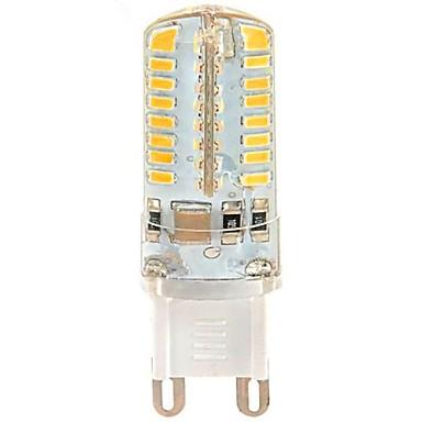 3 W Becuri LED Corn 250 lm G9 T 64 LED-uri de margele SMD 3014 Alb Cald 110-130 V / #
