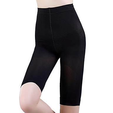 Şekillendirici Hava Alan / Giyilebilir / Anti-Tüy Naylon / Spandeks / ChinIon Düz Diz-Uzunluğunda Orta Bel İnce Siyah