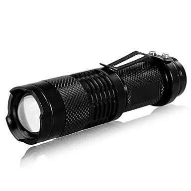 LED Fenerler LED 240 lm 3 Işıtma Modu Zoomable / Ayarlanabilir Fokus / Şarj Edilebilir Kamp / Yürüyüş / Mağaracılık / Günlük Kullanım / Balıkçılık Siyah