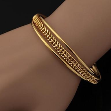 Kadın's Altın Kaplama Bilezikler Halhallar Vintage Bilezikler - Gümüş Altın Bilezikler Uyumluluk Düğün Parti Günlük Spor