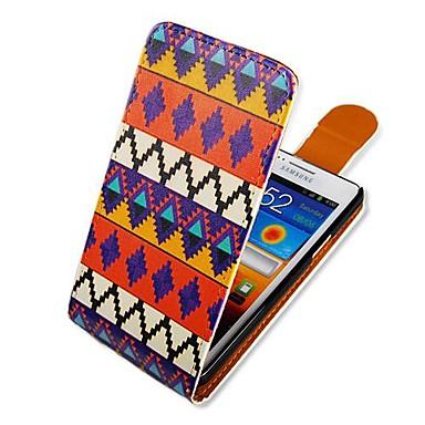 Pouzdro Uyumluluk Samsung Galaxy Samsung Galaxy Kılıf Flip Temalı Tam Kaplama Kılıf Çizgiler / Dalgalar PU Deri için S2