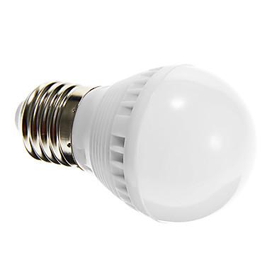 1 buc 2 W Bulb LED Glob 80-150 lm E26 / E27 G45 10 LED-uri de margele SMD 2835 Senzor Activare-Sunet Alb 220-240 V / RoHs