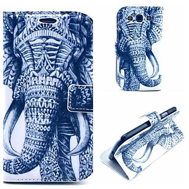 padrão elefante tatuagem pu capa legal estojo de couro com suporte para Samsung Galaxy S3 i9300