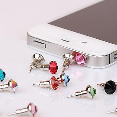 toophone® Joyland turn de 3,5 mm bisonfone de metal cristal și dop anti-praf pentru iPhone și Samsung (culoare aleatorii)